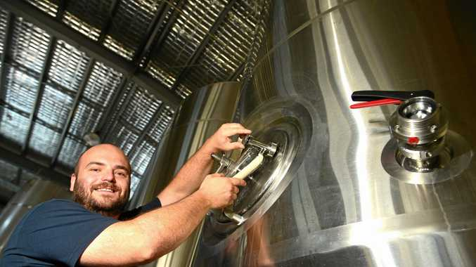 Brew brothers Lance and Craig Masterton in their brew house in Noosa.