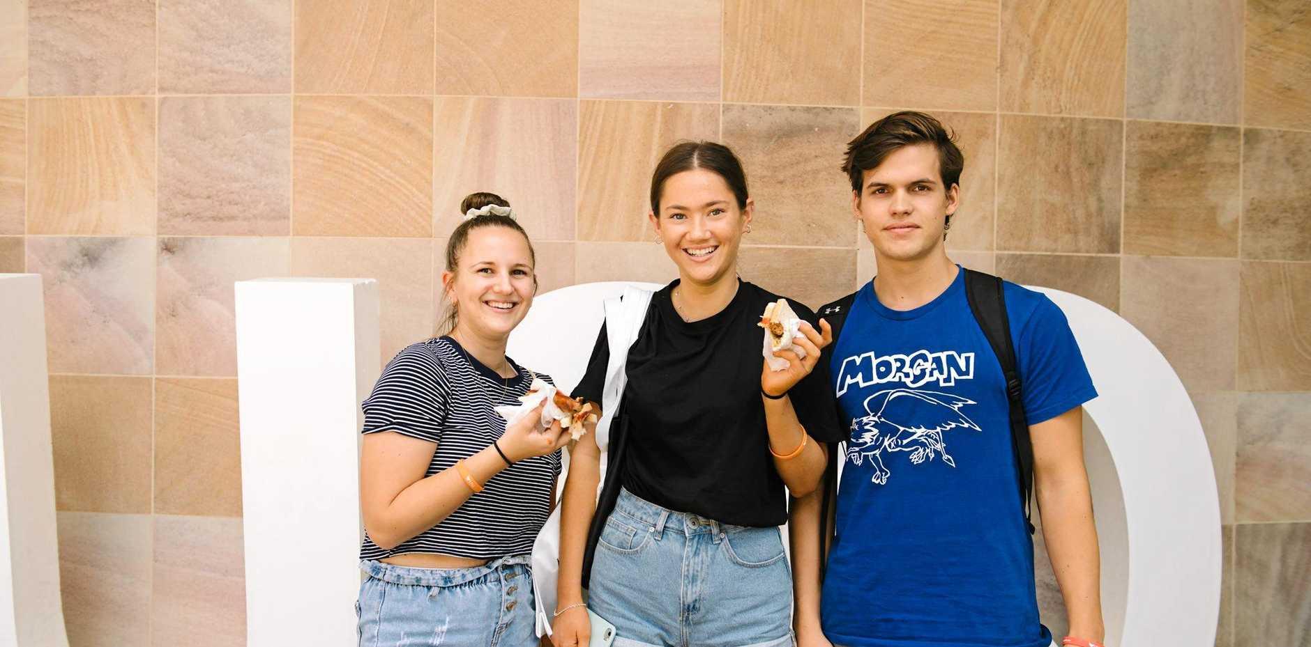 Natalie Brandish, Aleisha Mizzi and Ryan Kerr at USQ Ipswich for Orientation.