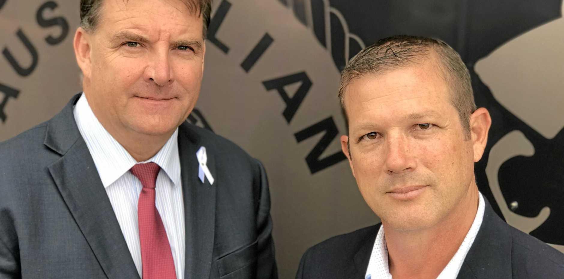 Burnett MP Stephen Bennett and Bundaberg MP David Batt.