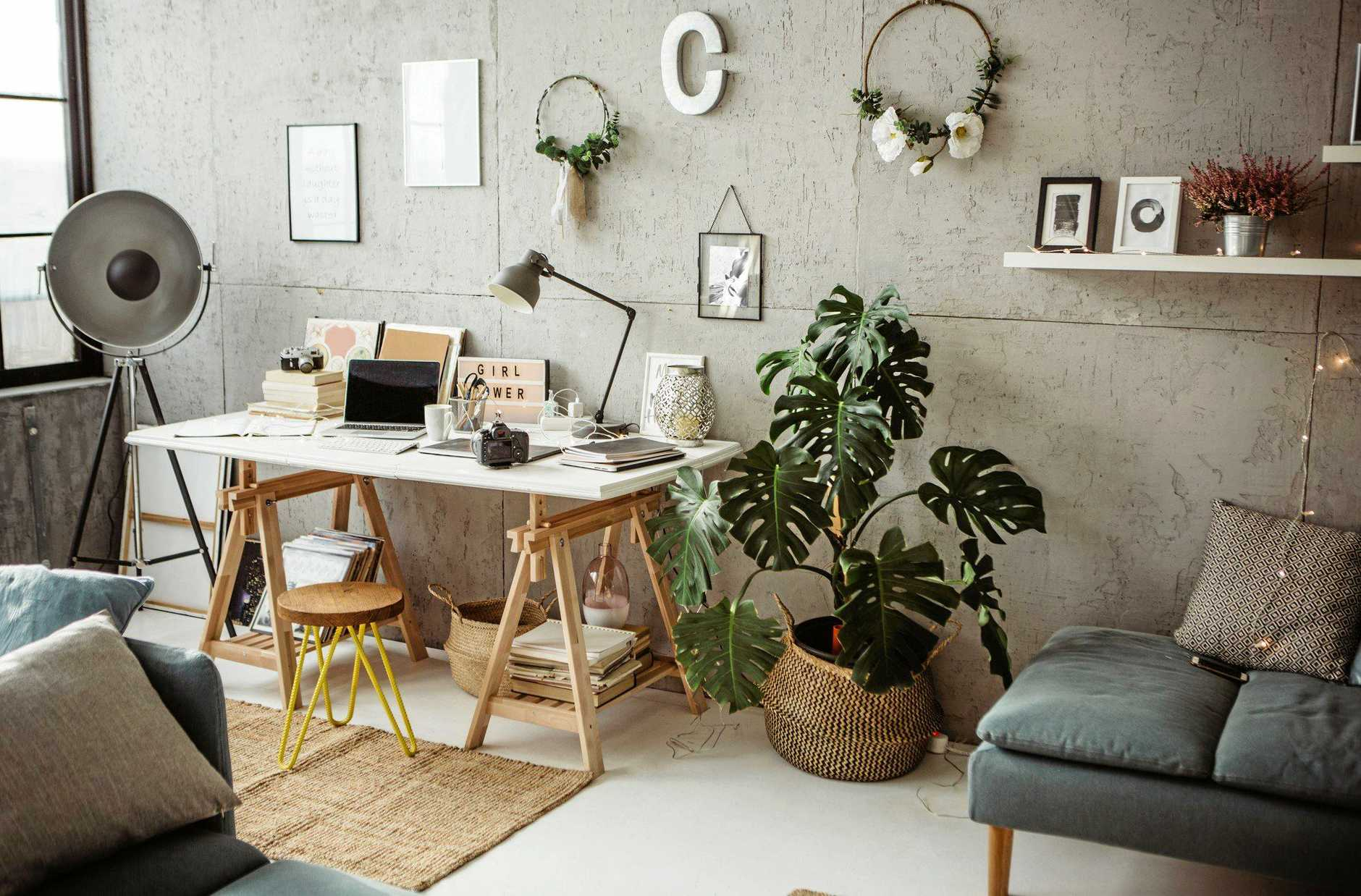 An inspirationally beautiful home office is a productive home office.