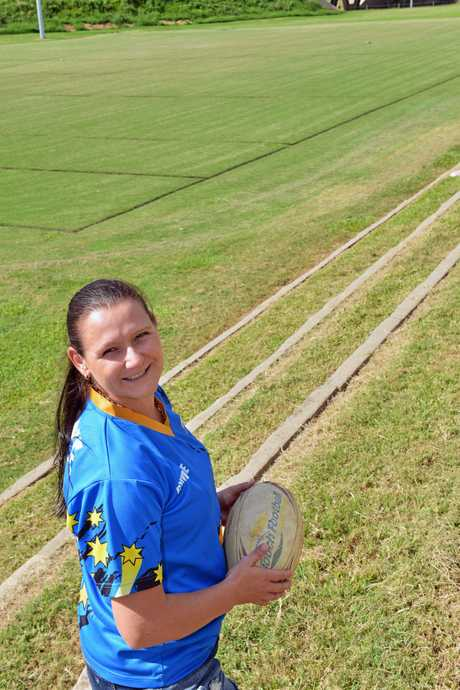 Touch Football. The Gympie Rep Team will be playing against the Scotts World Cup Team on Monday, April 20 at the touch football grounds, Albert Park from 6.00pm. Local player,  Kym Waugh is excited about her opportunity to play in this memorable game.     Photo Greg Miller / Gympie Times