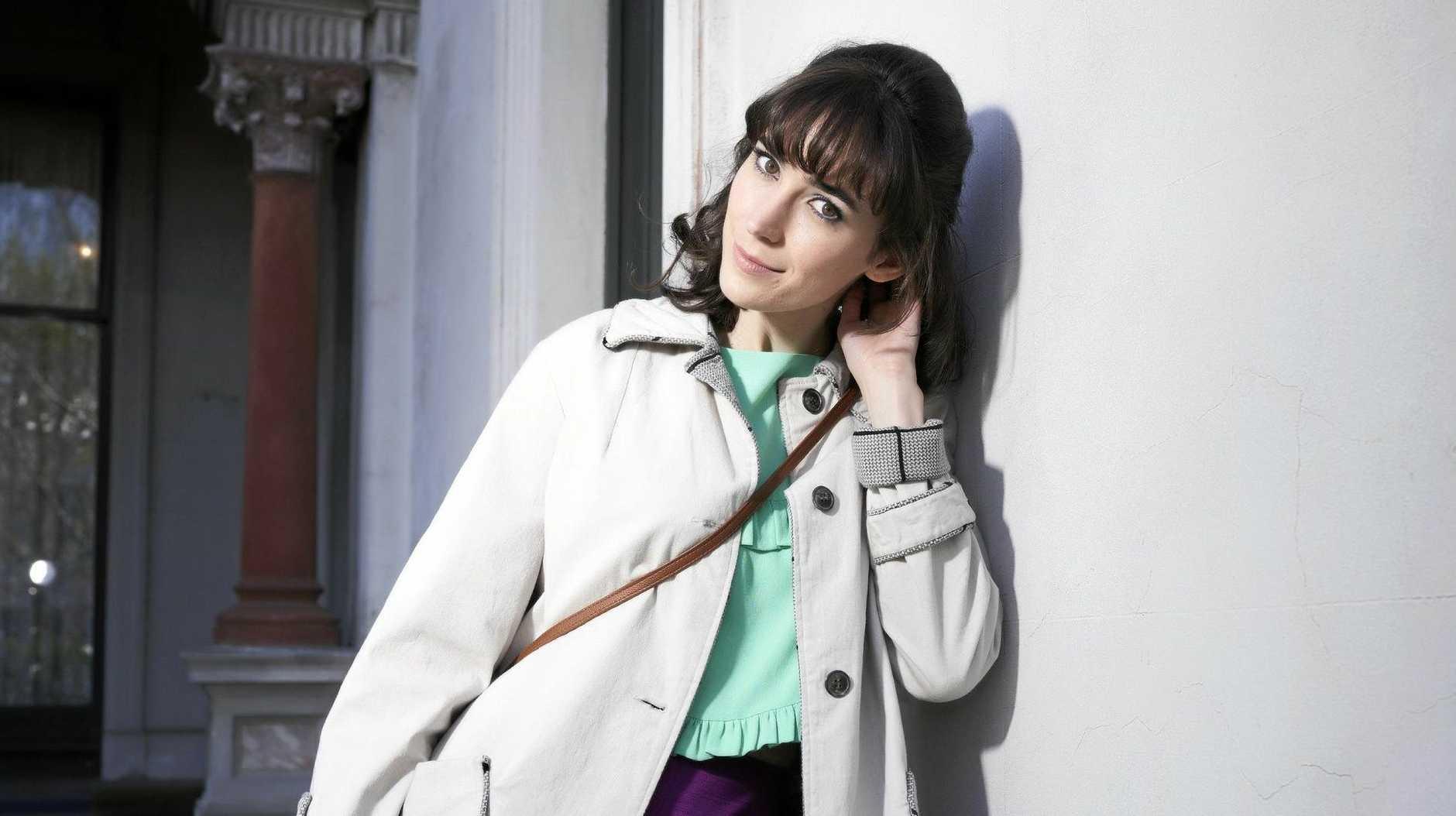 Geraldine Hakewill stars as Peregrine Fisher in the mini-series Ms Fisher's Modern Murder Mysteries.