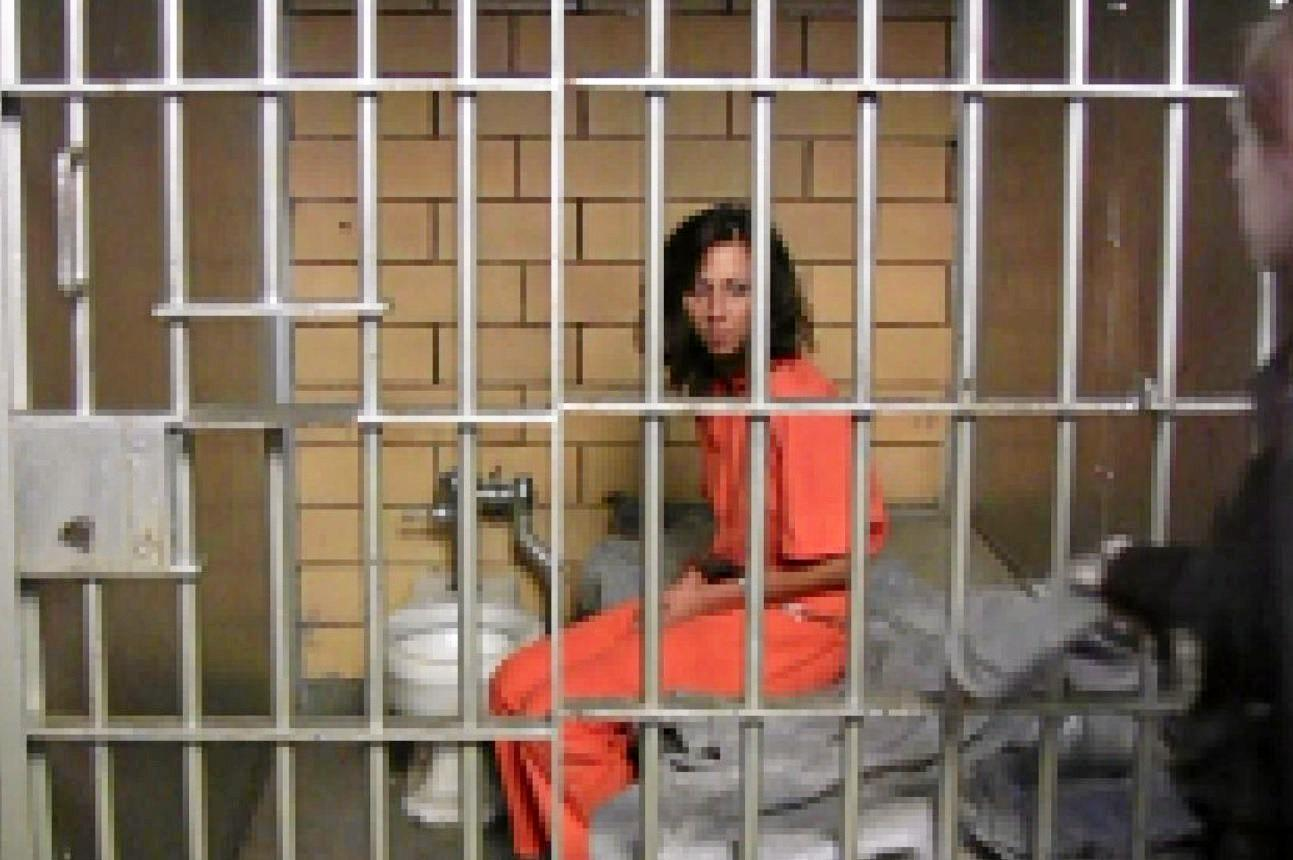 The troubled female inmate repeatedly spat at or on QCS staff. (File photo)