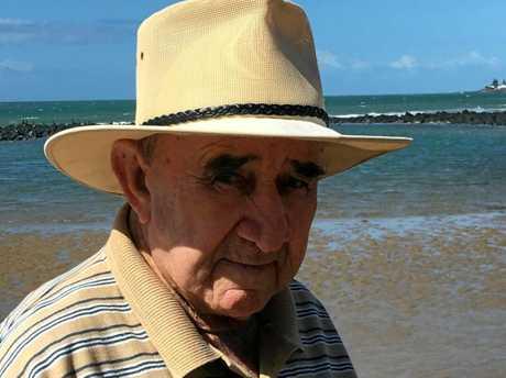Don Nixon enjoying a walk in his favourite part of the world, Bargara.