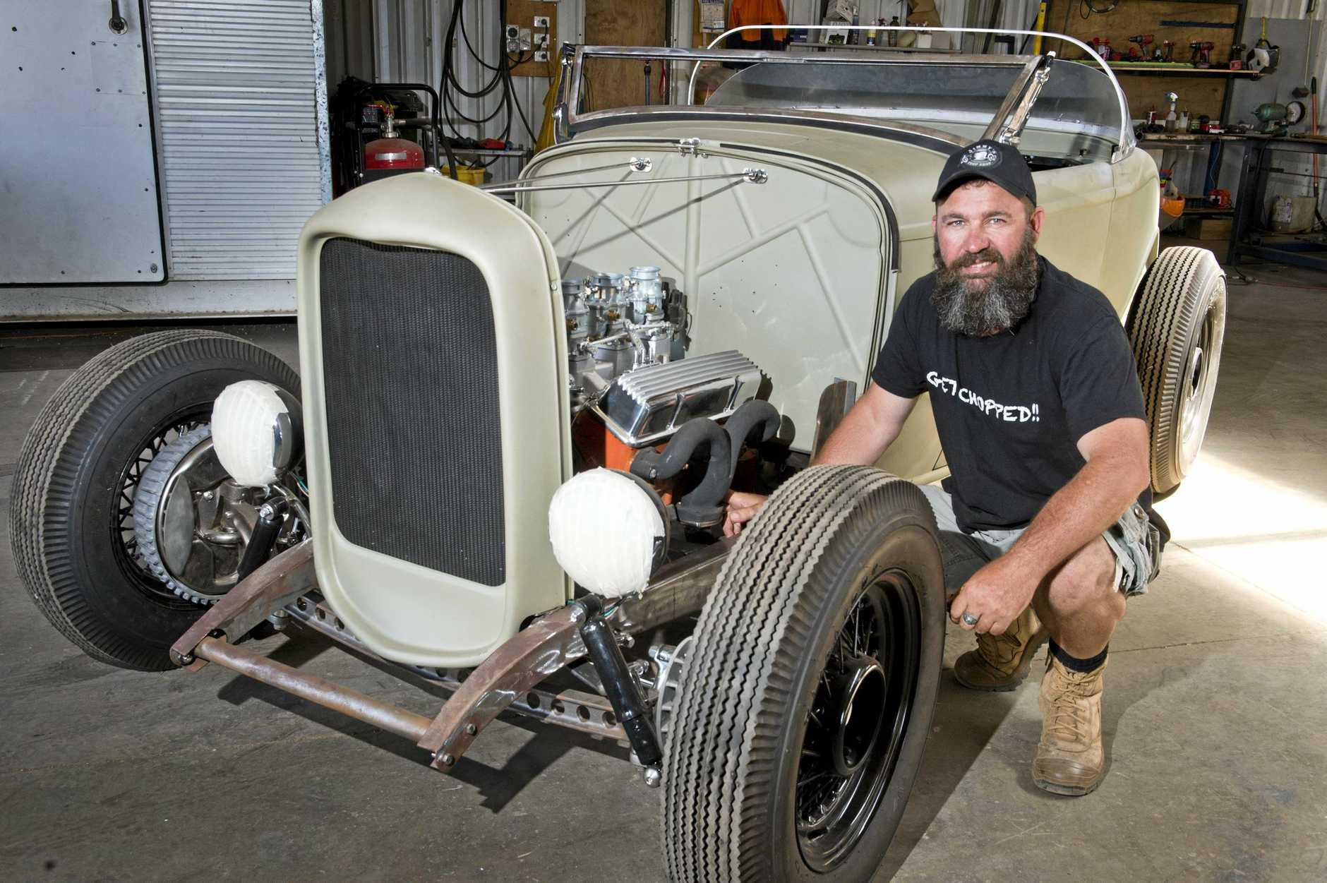 HOT ROD: Darren Cardiff, Director of Jimmy's Chop Shop, will be entering this year's competition with his newly restored car.
