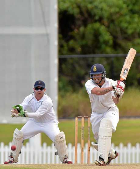 Maroochydore Blue against Gympie cricket grand final. Gympie batsman Steve Brady Photo: Warren Lynam / Sunshine Coast Daily