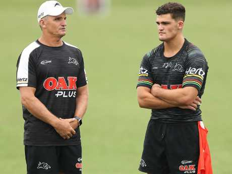 Coach Ivan Cleary and his son Nathan will steer the Panthers' premiership campaign.