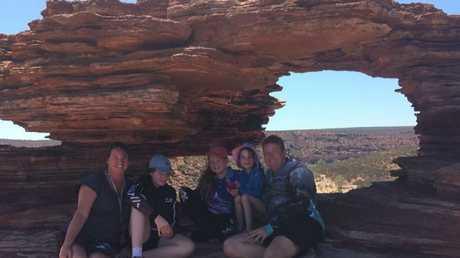 Resting at Natures Window, Kalbarri National Park, Western Australia.