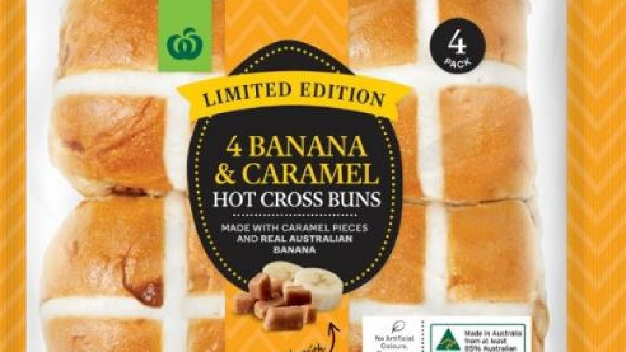 Woolies has released new hot cross buns and they're practically dessert.