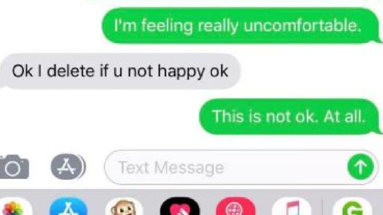Woman receives 'creepy' texts from cab driver. Picture: 3AW