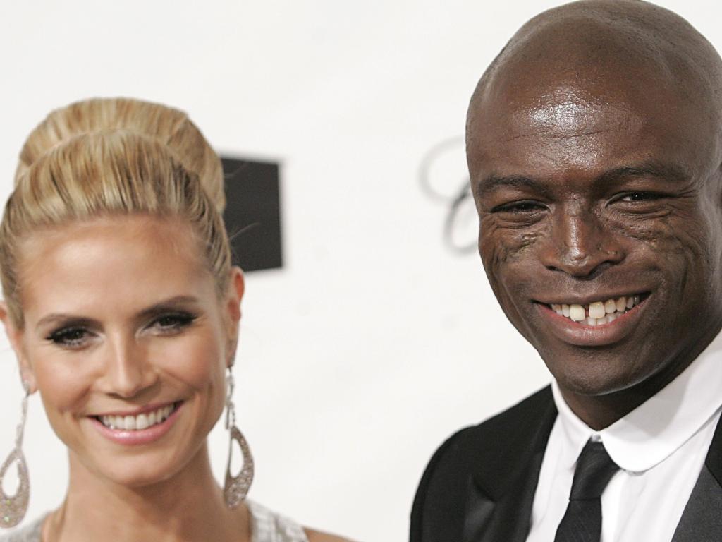 Heidi Klum, left, and her ex Seal.  Picture:  AP