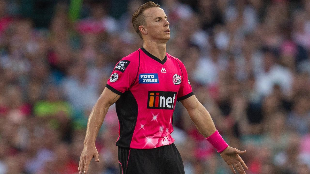 Tom Curran was outstanding for the Sixers in BBL|08. Picture: Steve Christo/AAP