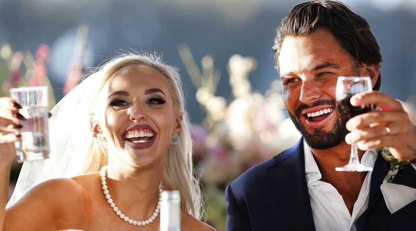 Sam was criticised for comments he made about Elizabeth's body during their wedding. Photo: Nigel Wright / Channel Nine.