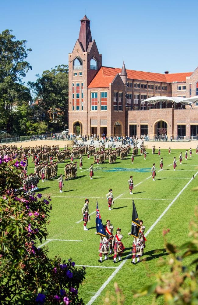 An Anzac parade at Knox Grammar School.