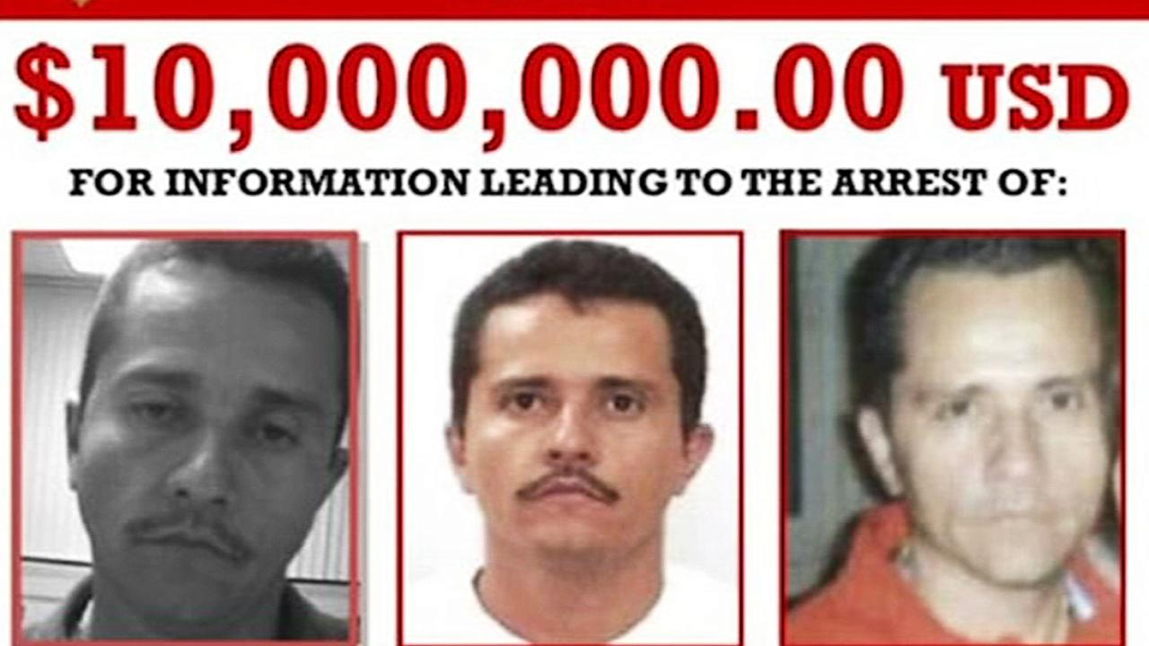 There is a $US10 million reward for information leading to the arrest of Mexican drug cartel leader Ruben Nemesio Oseguera Cervantes aka El Mencho. Picture: DEA