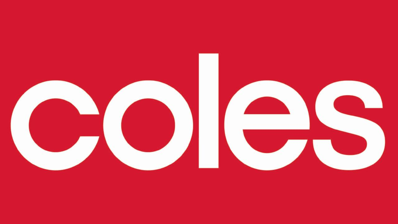 Sales at Coles are healthy but its half-year profit is lower.
