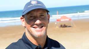 GOOD OUTLOOK: SLSQ Regional Manager Craig Holden says the outlook for the weekend looks good. Photo: Max Fleet / NewsMail