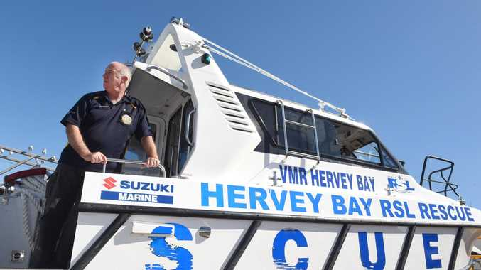 Commodore John Smith on the VMR Hervey Bay RSL Rescue boat that needs replacing.
