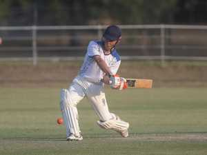 Hayden Ensbey hits out in the last overs of their