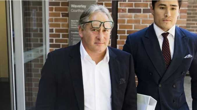 Property developer George Karageorge leaves Waverly Court. Picture: Dylan Robinson