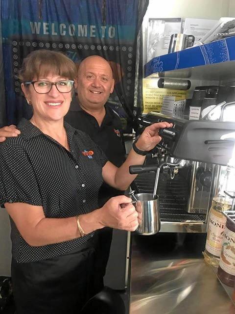 Paul and  Antwenette Vassallo ready to serve fresh food.