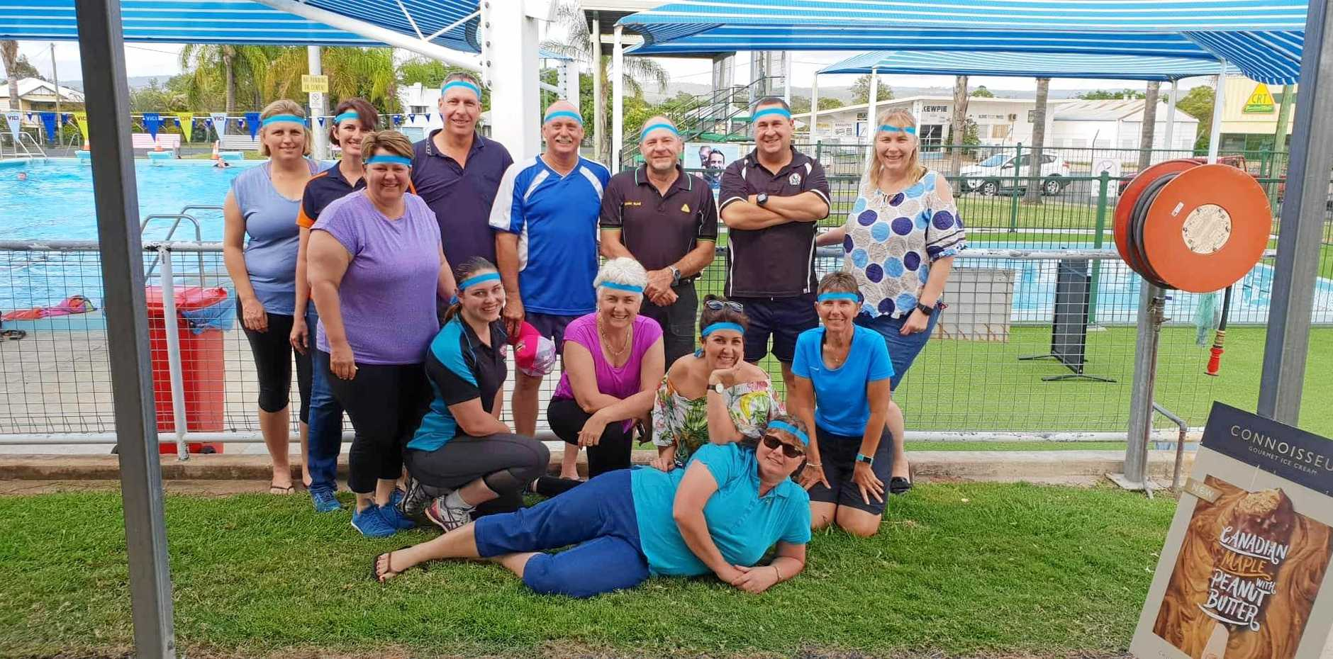 COMPLETED: These Monto fitness friends smashed their goal of 4000 laps for charity.
