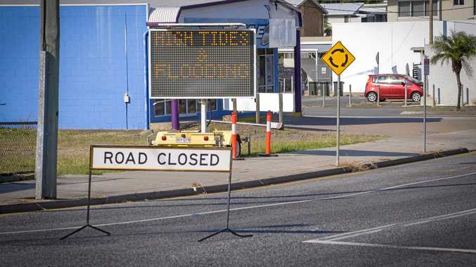 Major road closed due to king tide