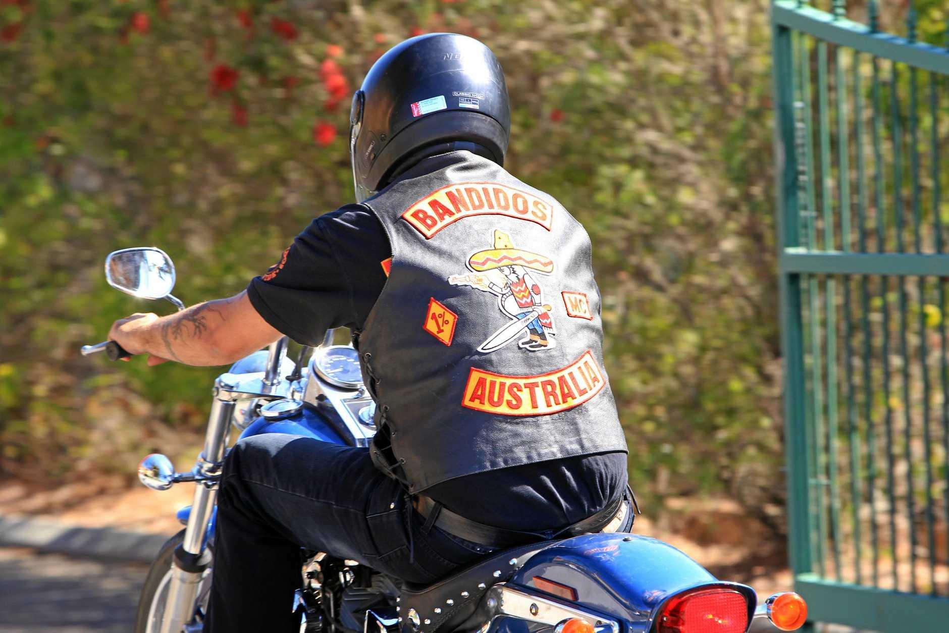 A Bandidos Motorcycle Gang rider