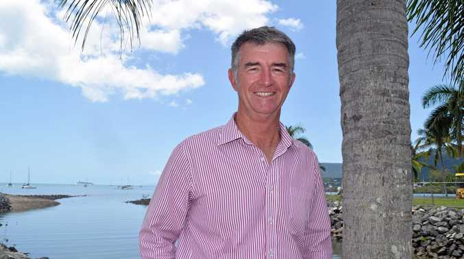 SIGHTSEEING: Deputy Opposition Leader Tim Mander visits the Whitsundays.