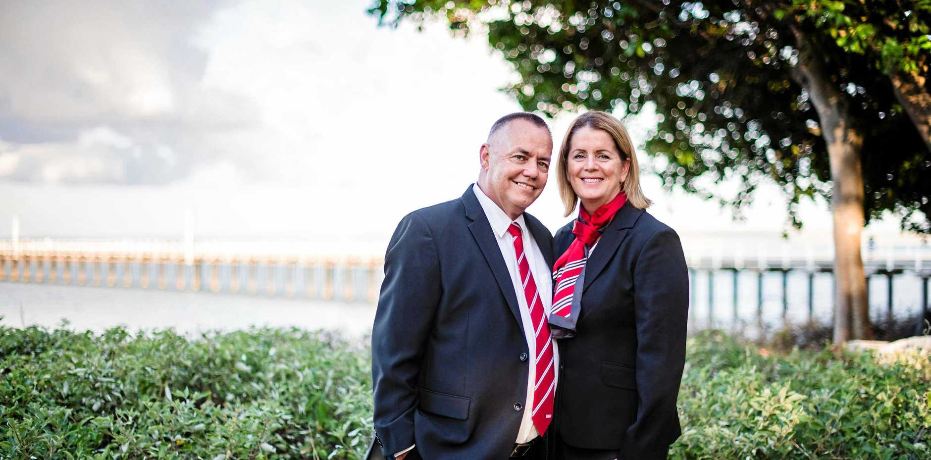BACK IN THE BAY: Dirk and Sally Van Den Heuvel have opened a R&W Bespoke real estate agency in Hervey Bay. The two returned to the area a few years ago after a brief absence.