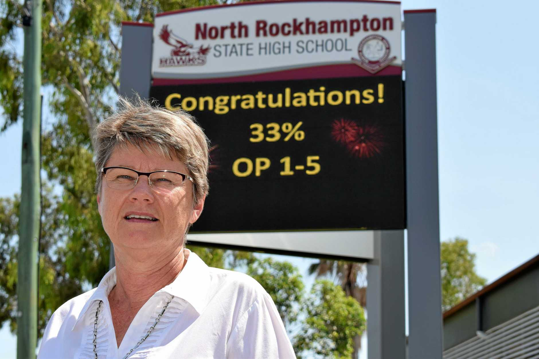 Janet Young, Principal of North Rockhampton State High School is happy after a successful 2018 for students and staff.