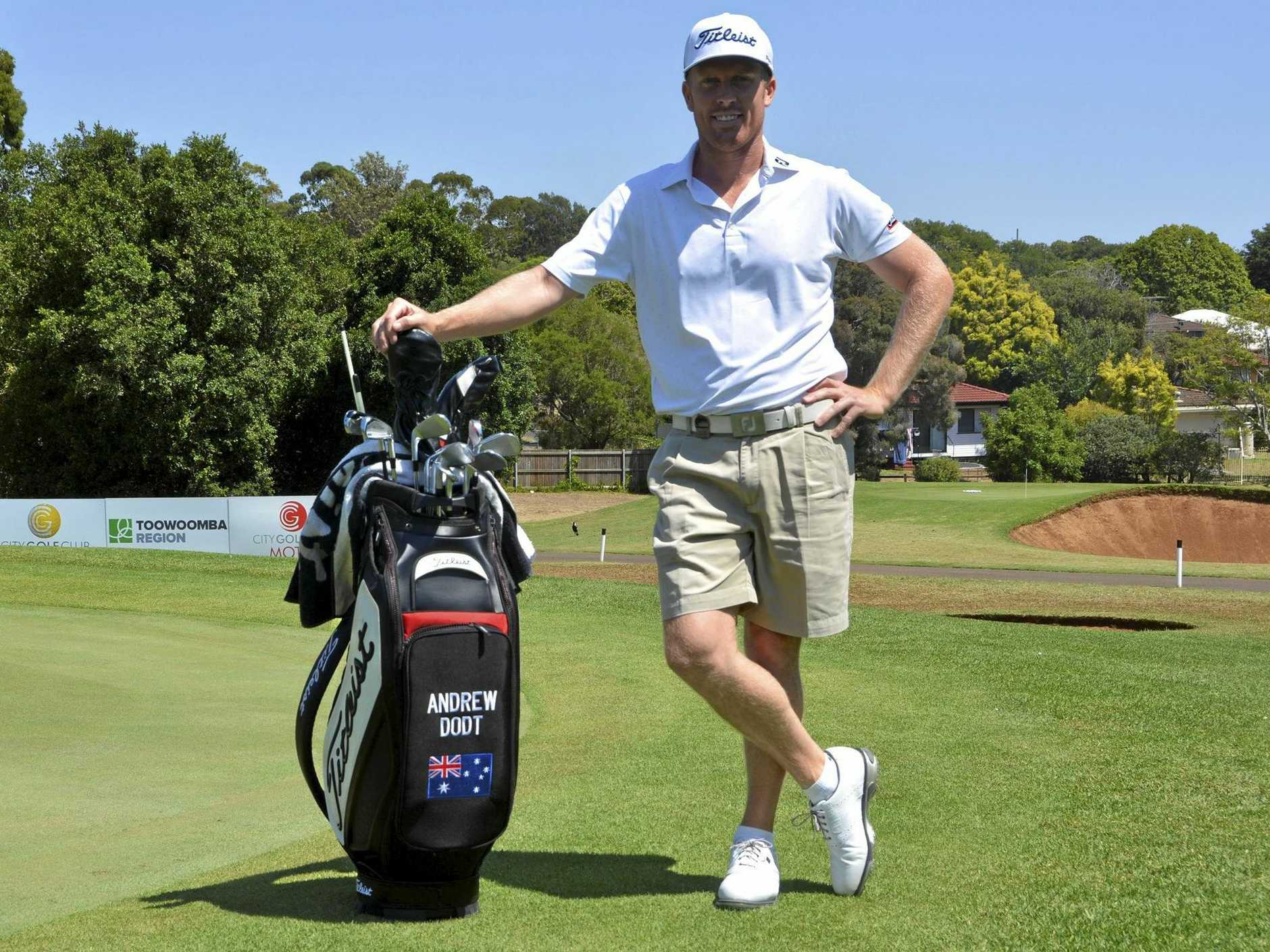 Gatton's Andrew Dodt begins his quest at City Golf Club today for the 2019 Coca-Cola Queensland PGA Championship.