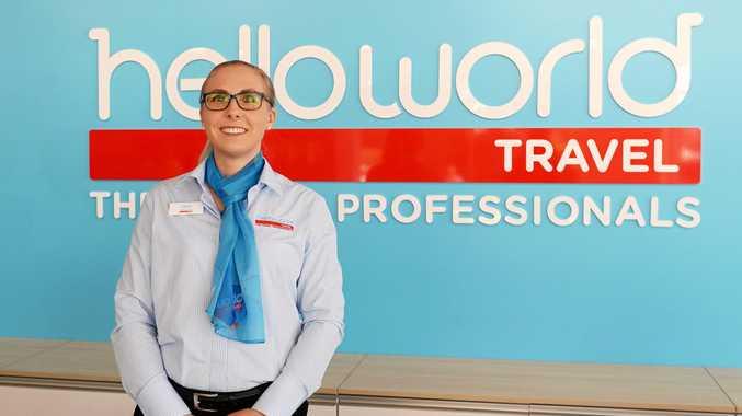 TRAVEL GURU: Leisa Davis at at her new store, Helloworld Travel Rockhampton.
