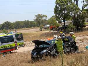 Woman taken to hospital after three vehicle highway crash