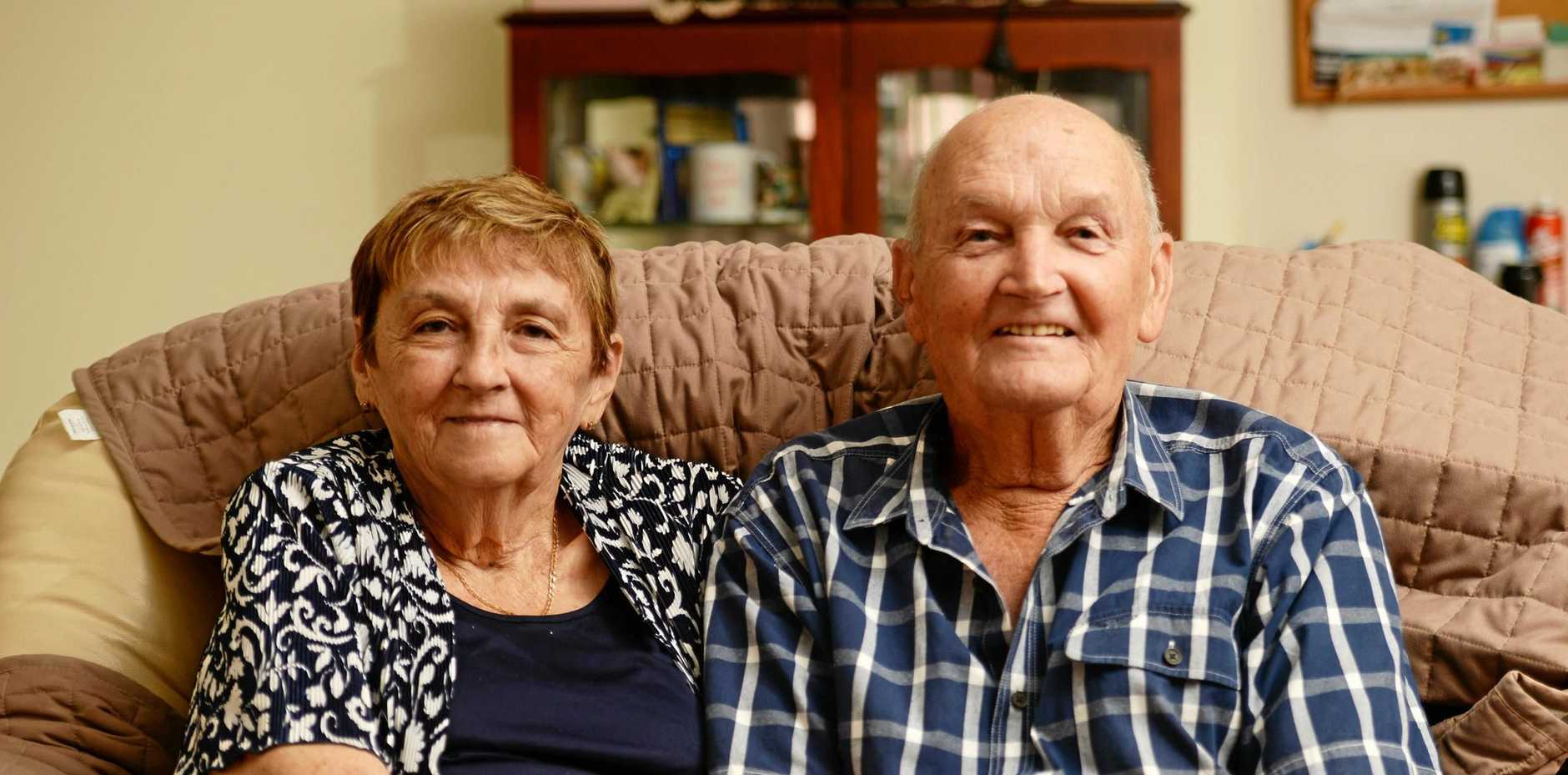CONGRATULATIONS: Wayne and Jean Roberts met over 60 years ago on a train travelling to Yeppoon.