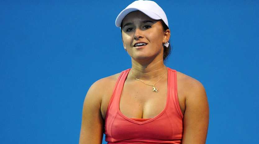 Arina Rodionova has delivered a serve to her victorious rivals at the Hungarian Open.