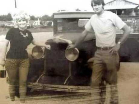 Parton and husband Carl Dean in their young years in Nashville in the early 70s. Picture: AP