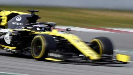 Renault driver Daniel Ricciardo had another mixed day of testing at the Circuit de Barcelona-Catalunya. Picture: AP Photo/Manu Fernandez