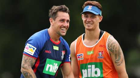 The duo can give rare optimism to Knights fans. Photo: Brett Costello