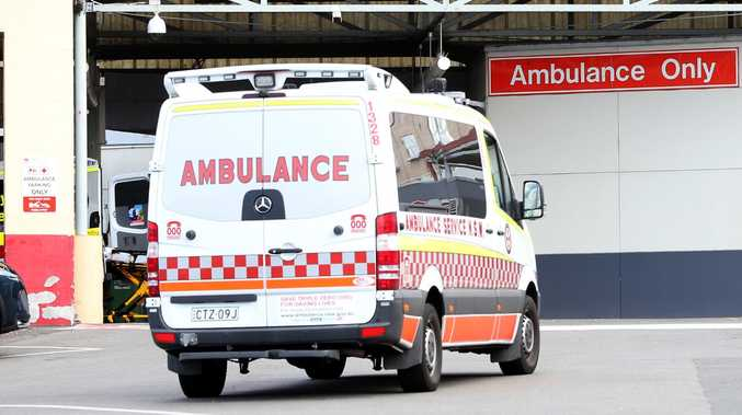 The Nepean Hospital ambulance bay and emergency entrance. Picture: AAP Image/ Justin Sanson