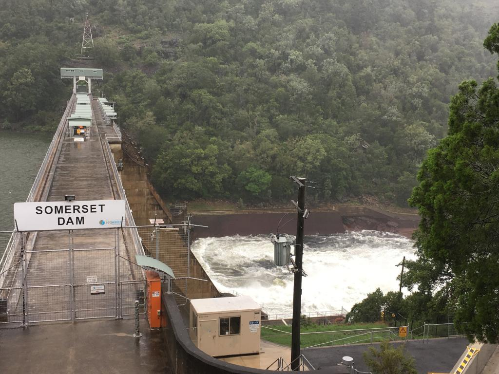 A previous water release at Somerset Dam