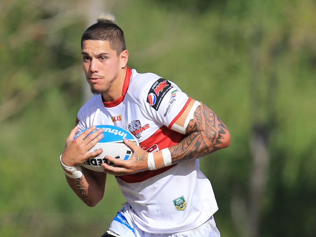 Myles Taueli in action during the Intrust Super Cup.