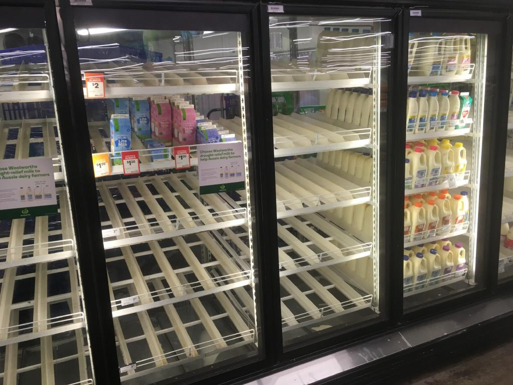 Woolworths announced it would stop selling milk at $1 a litre yesterday. Picture: Supplied