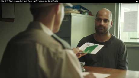 "Hamid Ranjbarain, the wholesome face of CGU Insurance advert ""Australian as it Gets"", is alleged to have conspired to import up to 40kg of ice from Middle East and Asia"