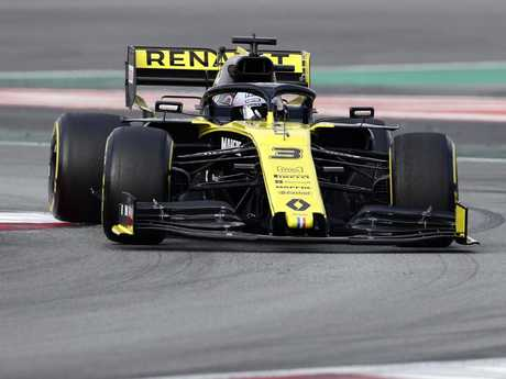 Daniel Ricciardo was off the pace in the Renault in the opening practice session at Albert Park.