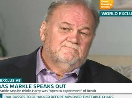 Meghan's father Thomas Markle Sr wants Samantha to stop publicly attacking Meghan, according to Thomas Markle Jr. Picture: Supplied