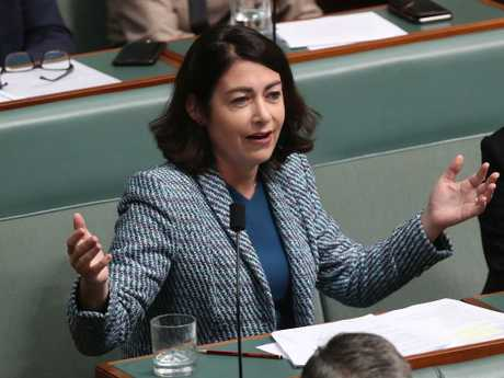 Terri Butler in Question Time in the House of Representatives Chamber at Parliament House in Canberra. Picture Kym Smith