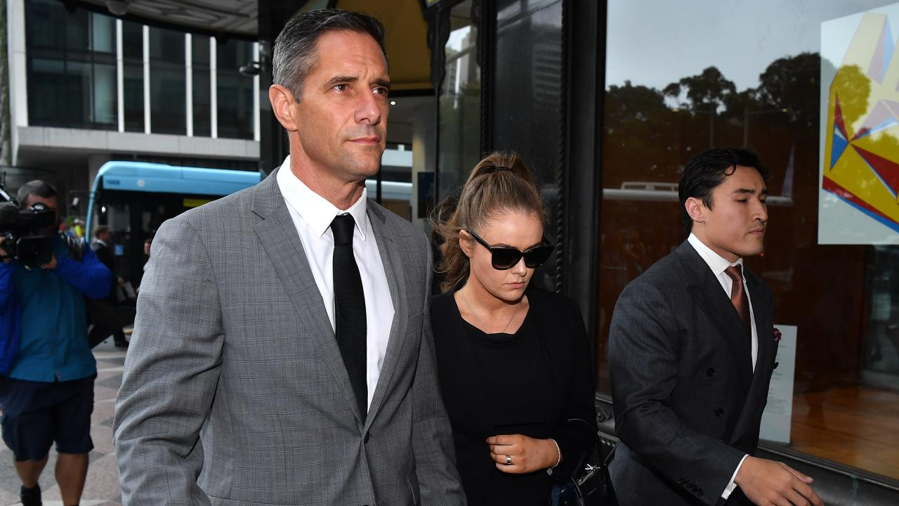 Roman Quaedvlieg and Sarah Jane Chisholm Rogers arrive at the Downing Centre court in Sydney today. Picture: AAP Image/Joel Carrett