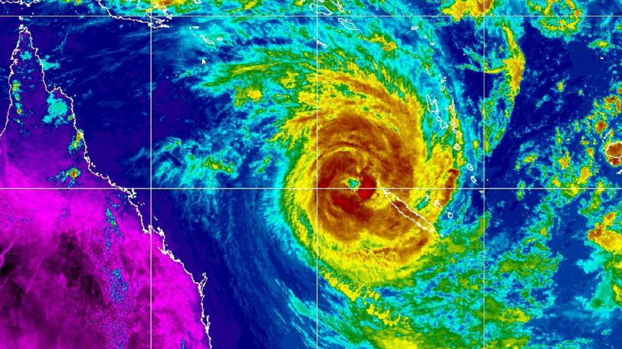 Cyclone Oma has been upgraded to a destructive Category 3 system as it continues moving towards the Queensland coast.