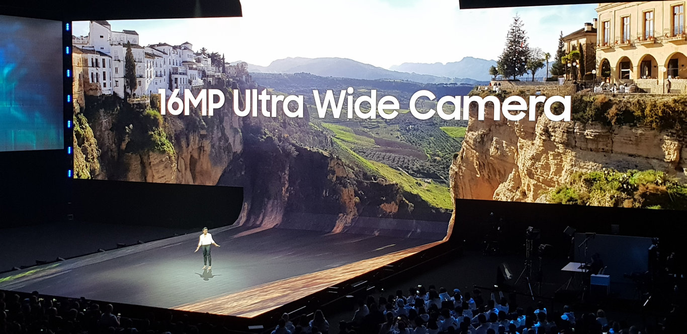 The launch of the Samsung Galaxy S10 phone range in San Francisco.